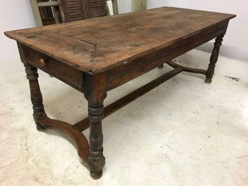 SOLD - Impressive French Country House Dining Table - a62